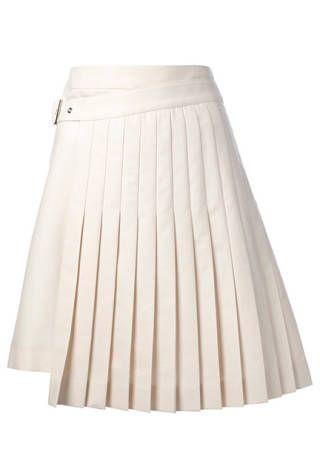 Salvatore Ferragamo Wrap Around Pleated Skirt, $892.54; farfetch.com