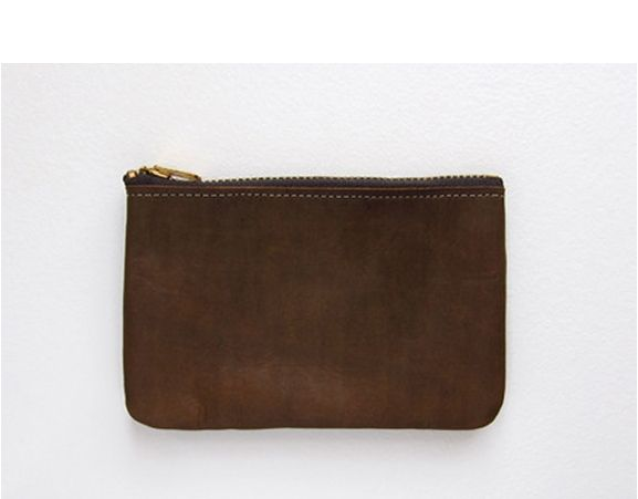 STANLEY & SONS APRON AND BAG COMPANY - Leather zip wallet. Made in USA.