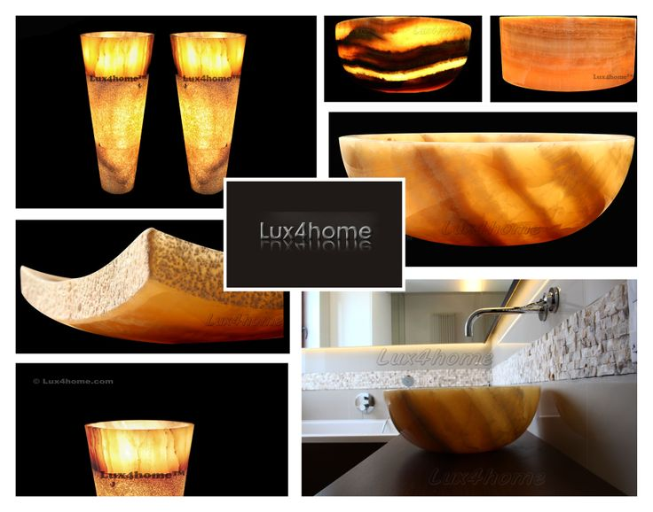 Natural Onyx sinks Lux4home™. Lux4home onyks sinka & washbasins...