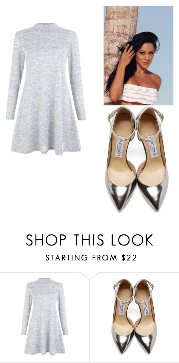 """peace"" by escarletmix14 on Polyvore featuring moda y Jimmy Choo"