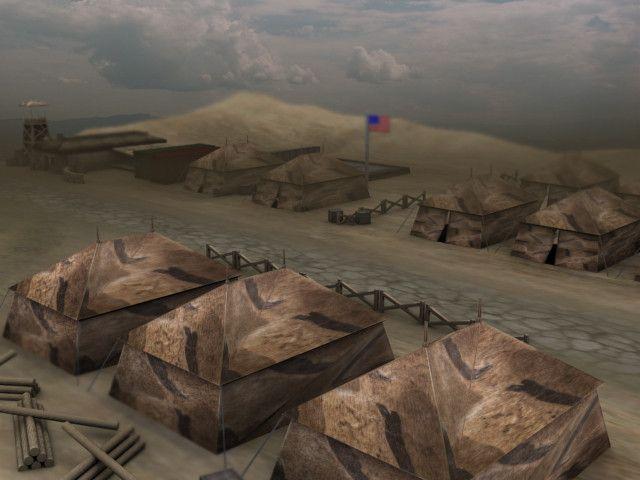 3D max us military camp