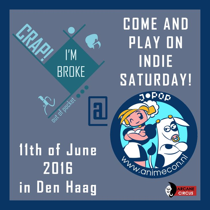 Arcane Circus will be showcasing Crap! I'm Broke: Out of Pocket at Anime 2016 in Den Haag this June! Click the link for more info:   http://arcanecircus.tumblr.com/post/144507772167/arcane-circus-will-be-showcasing-crap-im-broke   #animecon2016   #crapimbroke   #arcanecircus   #indiesaturday   #nederland   #anime