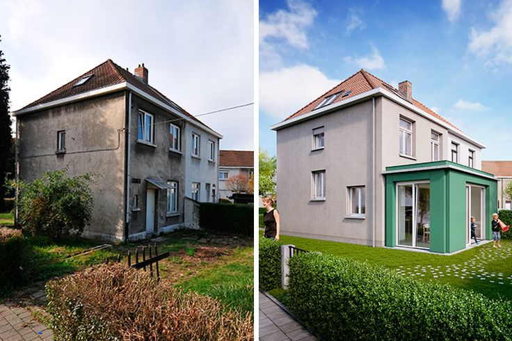 Rendering before & after the renovation! #RenovActive #Brussels #Architecture #Sustainable #Idea #Green