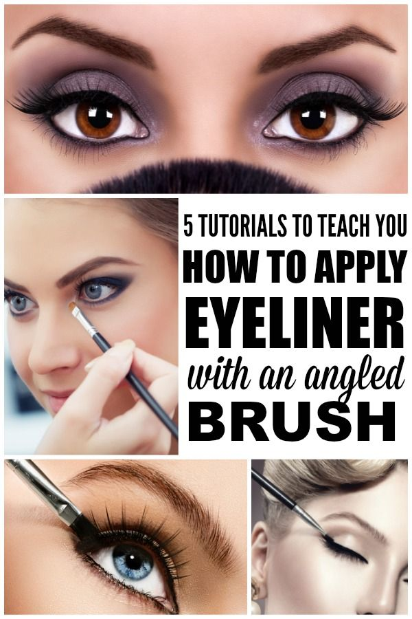 5 TUTORIALS TO TEACH YOU HOW TO APPLY EYELINER WITH AN ANGLED BRUSH