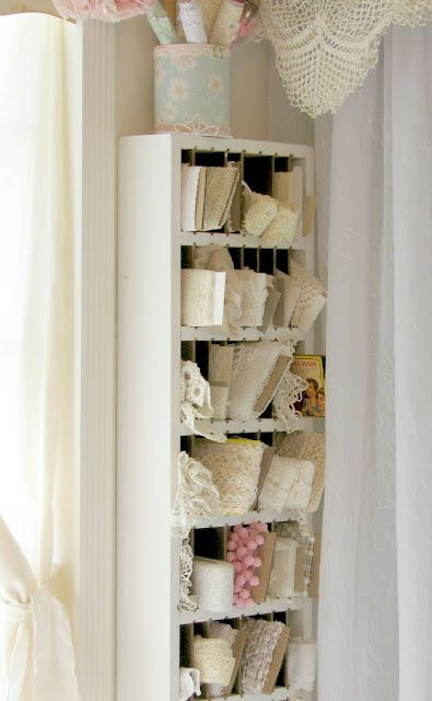 Elegant Old CD Tower Turned Lace Storage! Love This And You Can Get These Towers  Free Or Dirt Cheap And Repaint!