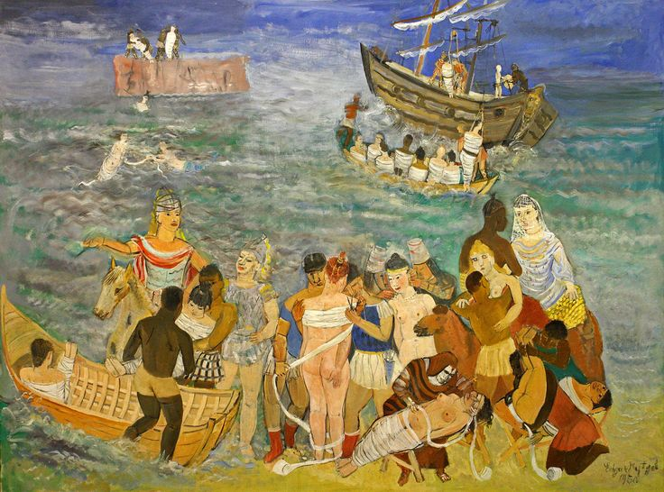 Edgard Tytgat (1879-1957) De verovering van Troje, 1950 The conquest of Troy Mu.ZEE