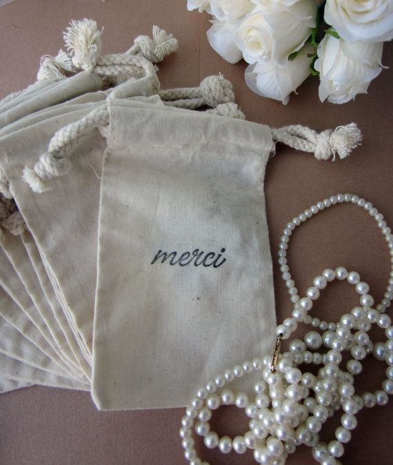 Wedding Favors 10 Merci  French Style Script by lifeissobeautiful, $12.00