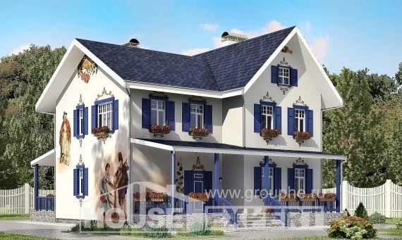 180-003-R dubleks ev projesi, klasik yığma blok tuğla, Sakarya