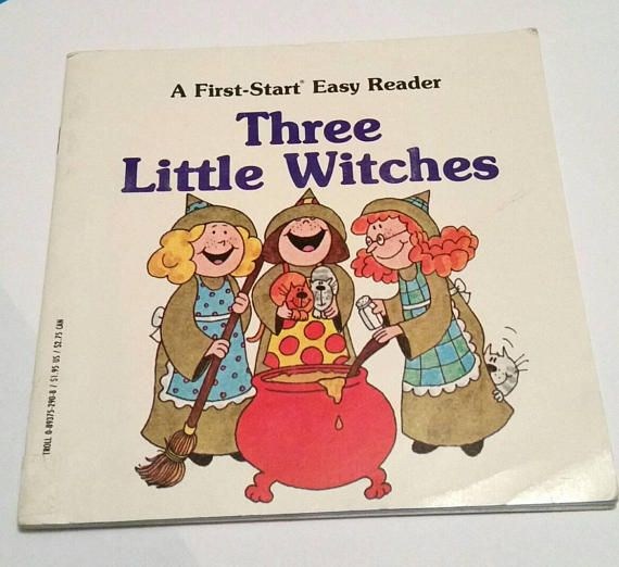 Check out this item in my Etsy shop https://www.etsy.com/ca/listing/563697379/vintage-3-little-witches-book-kids