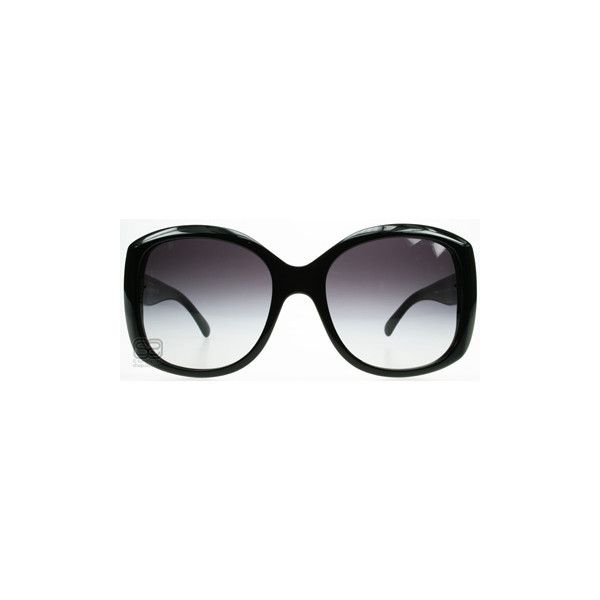 Chanel 5183 Gloss Black > Chanel Sunglasses > 5183 C5013C > UK ($260) ❤ liked on Polyvore featuring accessories, eyewear, sunglasses, glasses, chanel, occhiali, chanel glasses, chanel eyewear and chanel sunglasses