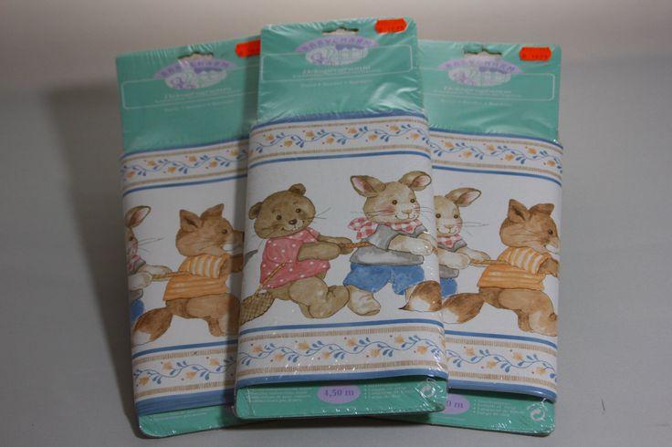 Wallpaper-Grenzen-Set von 3 Jahrgang Deutsch Wallpaper Grenzen für die Kinder Zimmer mit glücklichen Tieren von Vintageshopoflucy auf Etsy https://www.etsy.com/de/listing/287511565/wallpaper-grenzen-set-von-3-jahrgang