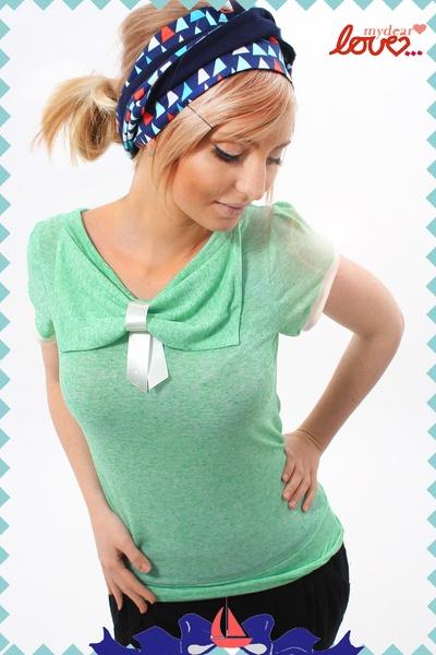 """Schleifenshirt """"Carlotta"""", Mintgrün, pastell bow tie shirt from mydearlove"""