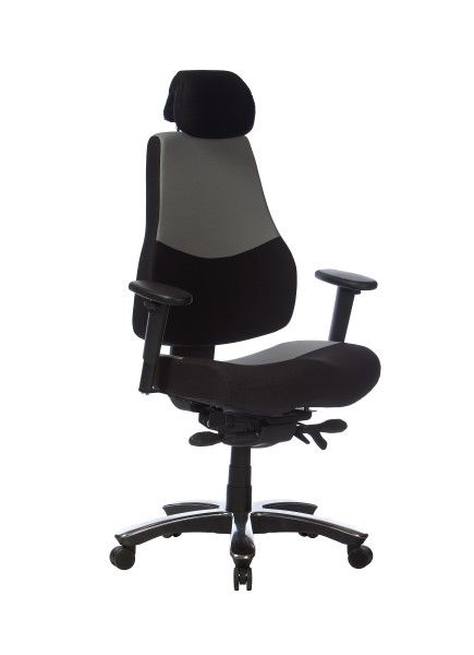 The Ranger Multishift Chair is standard with a Heavy Duty Gas Lift, Heavy Duty Synchro mechanism, seat slide, adjustable headrest and adjustable T arms #seated #ranger #multishift #chair seated.com.au