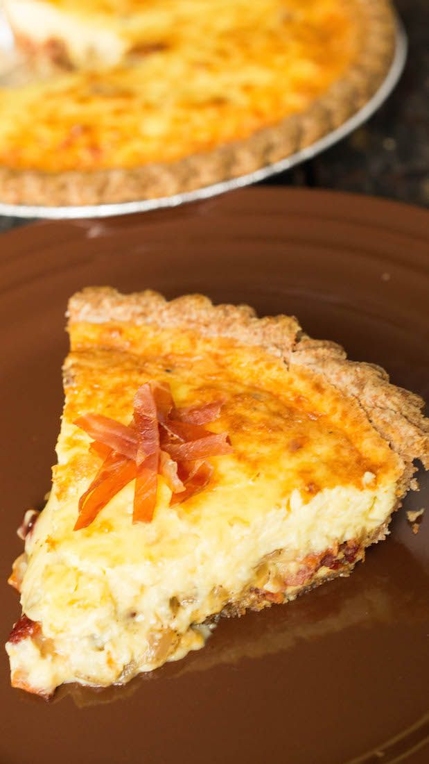 Our Bacon Lover's Duck Egg Quiche Recipe. Made with creme fraiche, shallots, bacon, and fresh duck eggs.