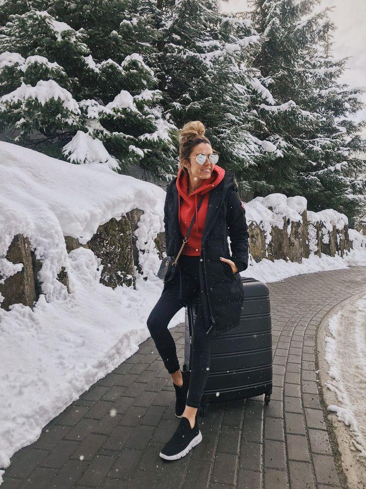 Canada Travel Style Vinterreiserantrekk, Uformell vinter  Winter travel outfit, Casual winter