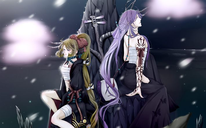 Download wallpapers Vocaloid, Japanese anime, characters, singing voice synthesizer
