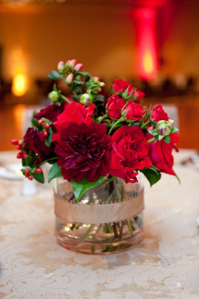 Ideas about red centerpieces on pinterest