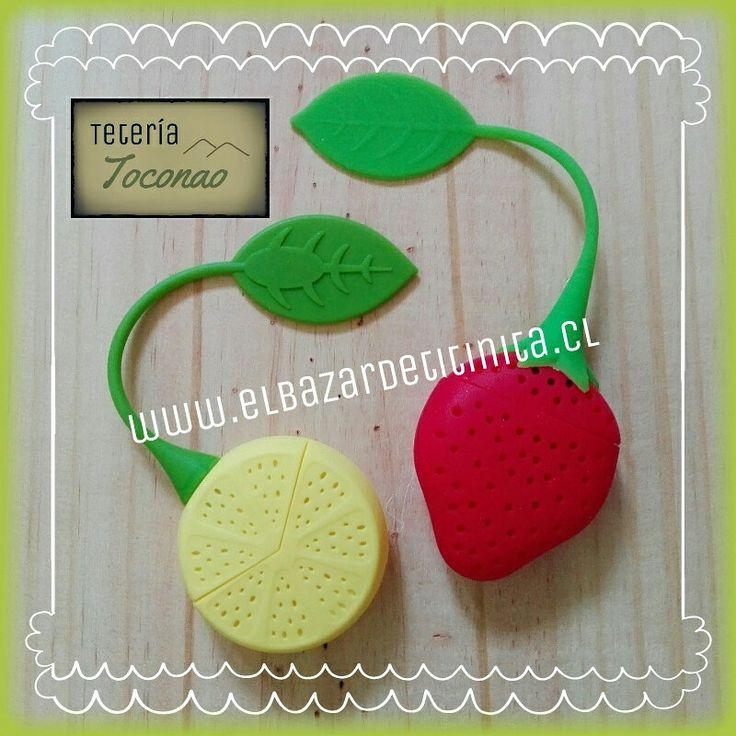 Infusores de silicona para té a granel ♡  www.elbazardetitinita.cl