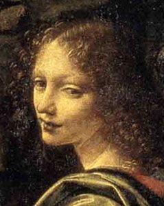 Vergine delle rocce (Angelo part.) - Louvre - Leonardo da Vinci