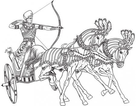 Egyptian Chariot Outline