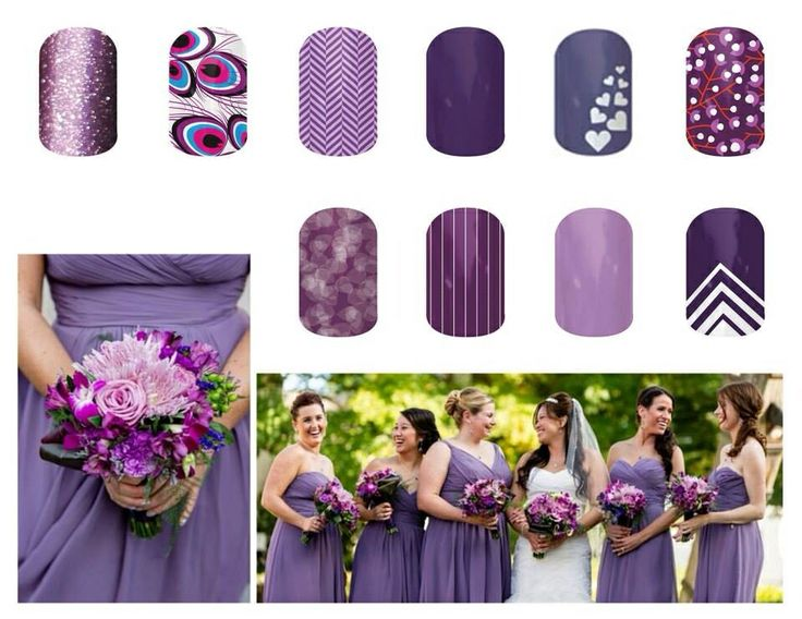 Wedding party with coordinating jamberry!! http://Samanthabell.jamberrynails.net