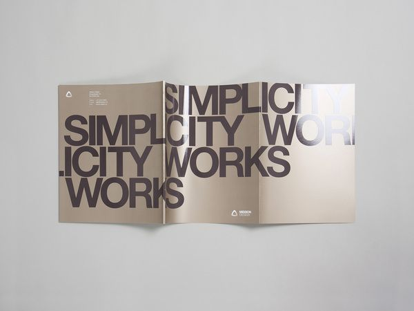 Simplicity Works - Process by Mission Design , via Behance