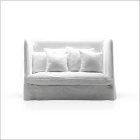 Gervasoni Ghost, Italienisches Sofa, Weiß