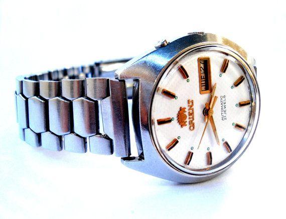 Vintage Reloj ORIENT Automatico 21 Jewels Doble por shopvintage1
