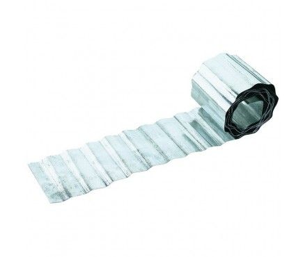 Galvanised Corrugated Metal Lawn Edging Roll (5m)