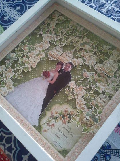 """belongs to Debora 30x30cm wedding scrapbook using """"secret garden""""from  Graphic 45"""