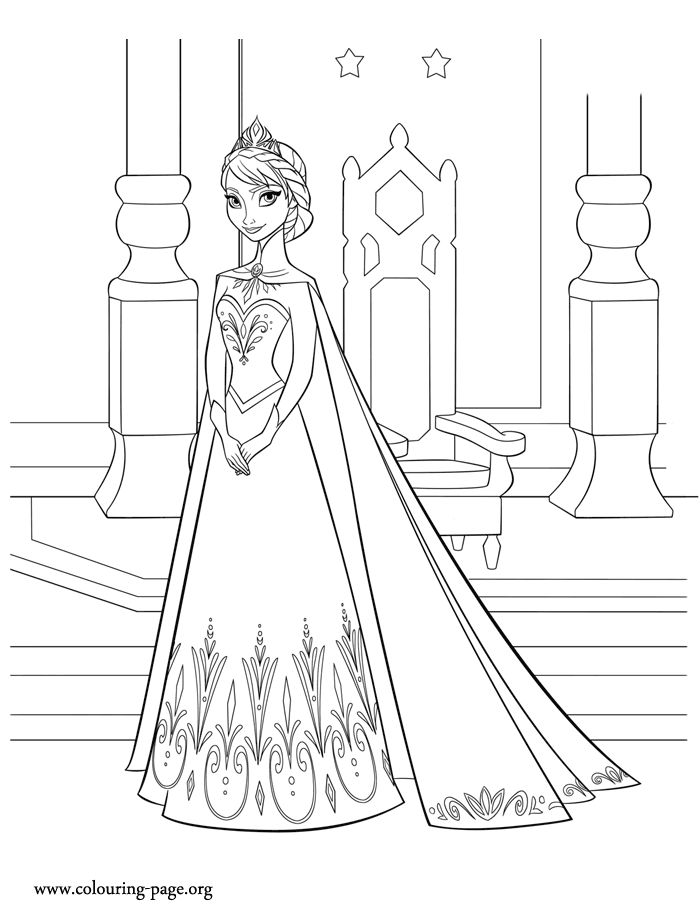 47 best Frozen Coloring images on Pinterest Coloring pages