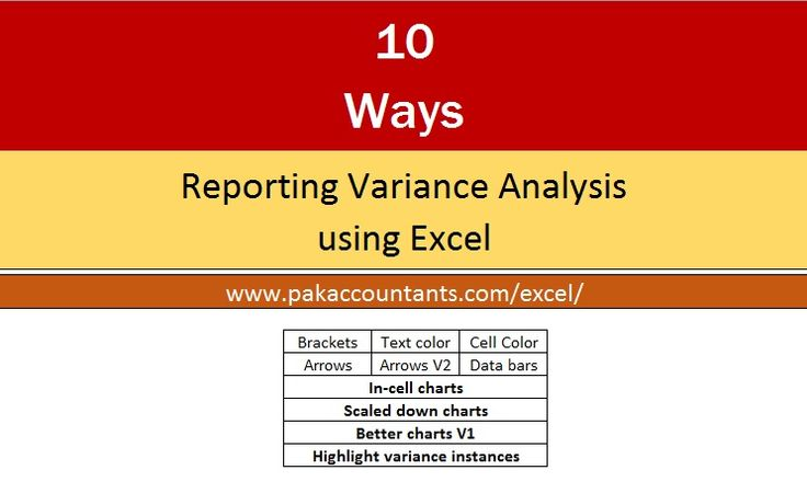 10 ways to make excel variance reports and charts how pakaccountants com tutorials analysis frc kpmg