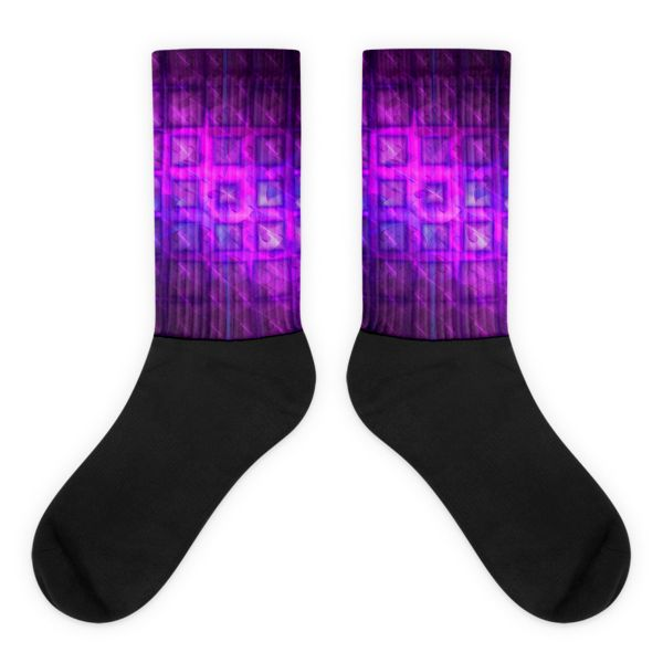 These socks will give you maximum comfort and style simultaneously! The top of the sock is printed, the bottom portion is solid black, and each sock is printed individually in the USA. • Thick ribbing, which provides a secure fit • Cushioned for maximum comfort • Bold, crisp colors that won't fade • 60% Nylon, …
