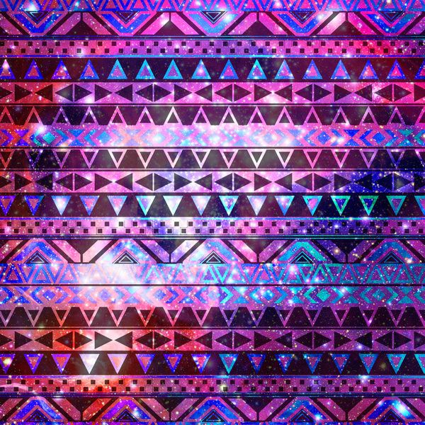 Head In Space | Girly Andes Aztec Pattern Pink Teal Nebula ...