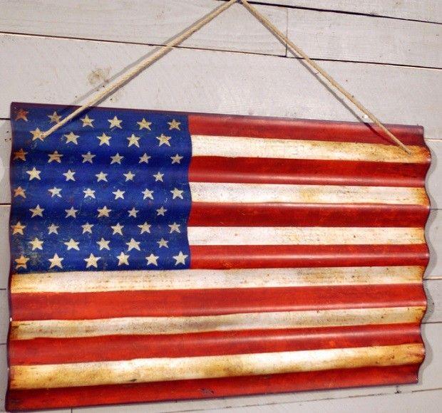 American Flag Wall Art   Americana Home Decor   4th of July Decor