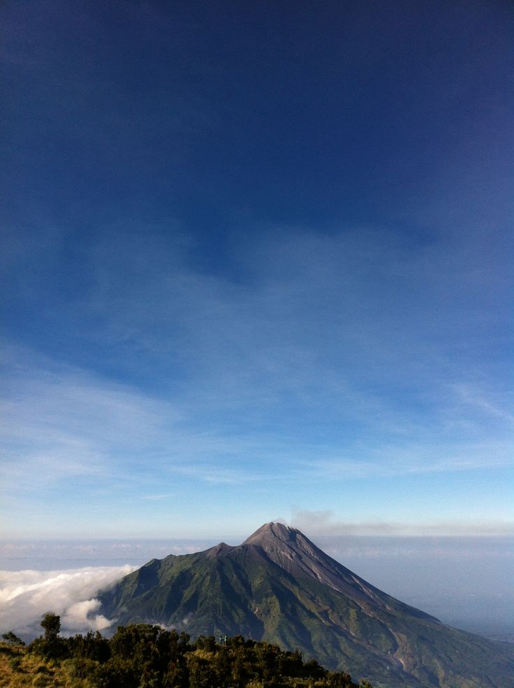 and that is Merapi Mountain.