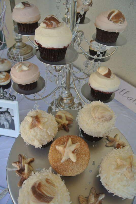 beach wedding ideas, beach wedding cupcakes,beach wedding,Venue in Oceanside Ca Tel: 760-295-3797, A La Plage Beach Weddings