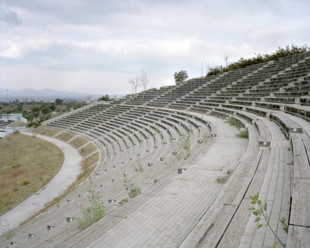 Athens Olympic 8 years later Spectator strand. Helliniko Olympic Canoe/Kayak Slalom Center.