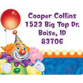 Circus Party Personalized Address Labels (Sheet of 15)