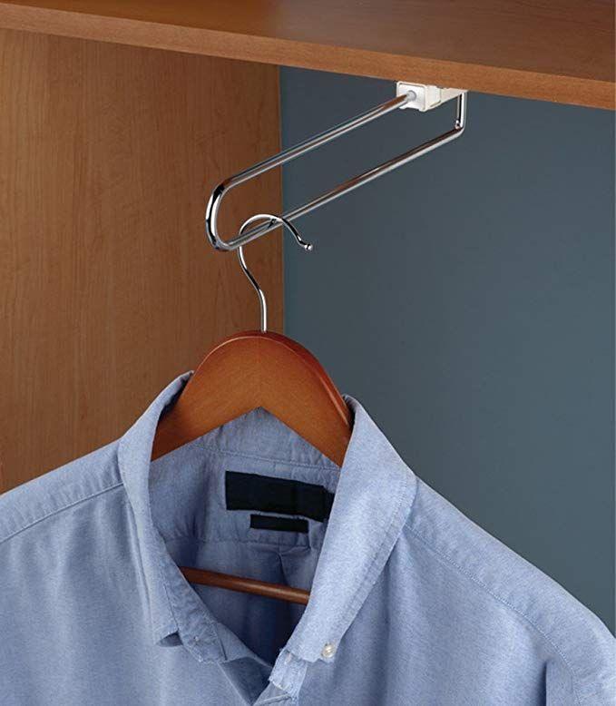 Gedotec Metall Kleiderbugelhalter Ausziehbar Kleiderbugel Auszug Fur Unterboden Fachboden Comfort 350 X 40 X 47 Mm Halter Kleider Kleiderbugel Garderobe