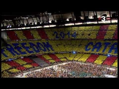 Els Segadors al Camp Nou #concertperlallibertat - #Independencia #Catalunya #Llibertat