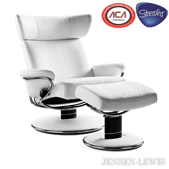 Jazz By Stressless Jazz (medium) Swivel Recliner Chair And Footstool