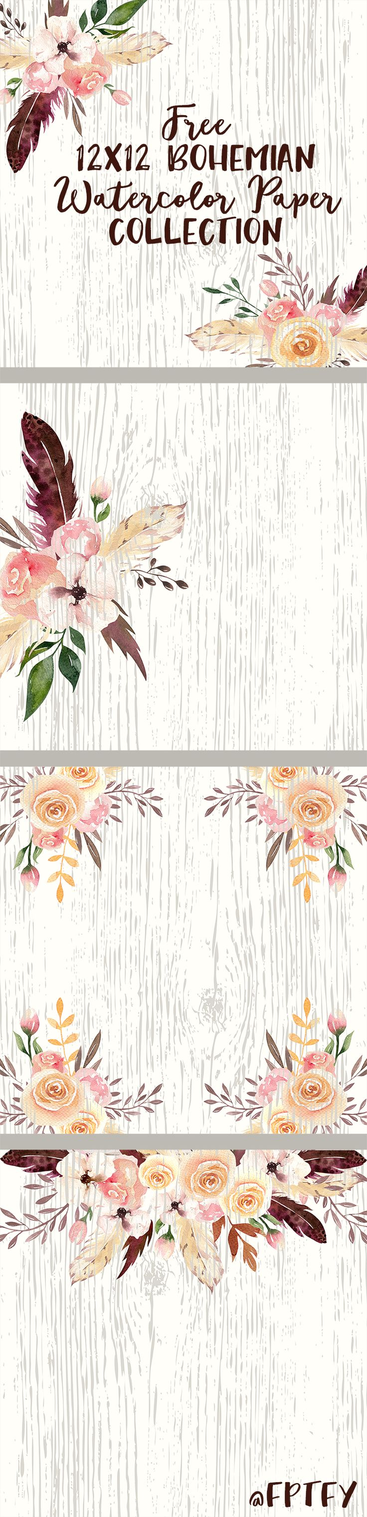 Free Bohemian Digital Papers by The Jumbo July Bundle - Free Pretty Things For You