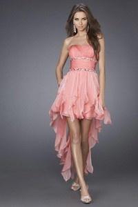Peach bridesmaid dress idea
