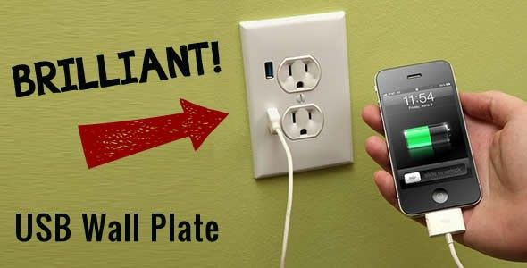 How is this for cool? Imagine all of your kids electronics charged via the wall plug!