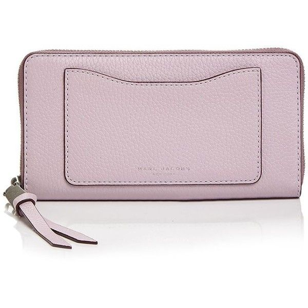 Marc Jacobs Recruit Continental Wallet (305 CAD) ❤ liked on Polyvore featuring bags, wallets, marc jacobs, marc jacobs wallet, pink bag, continental wallets and pink zip around wallet
