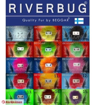 RiverBug Xlong marble fox tail pieces available in Kärkkäinen shops. #riverbug #fox  #fur  #fly  #flytying  #beggar  #fishing  #kärkkäinen www.riverbug.fi
