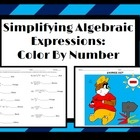 Simplifying Expressions With Exponents: Color By Number activity