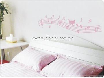 00499-Musical Cat Wall Sticker