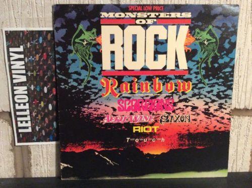 Monsters Of Rock Compilation LP 2488810 Rock 80's Rainbow Saxon Scorpions Riot Music:Records:Albums/ LPs:Rock:Classic